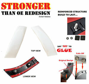 For 99 07 Ford Super Duty Yo Oxford White Pair Set Roof Side Moulding Reinforced