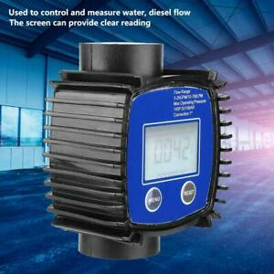 Digital High Accuracy Water Fuel Oil Diesel Flow Meter Flowmeter 5 120l min