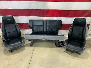 92 Gmc Typhoon Interior Seat Set Front Rear Oem Used Charcoal Leather