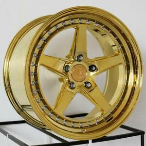 Aodhan Ds05 Ds5 19x9 5 5x114 3 15 Gold Vacuum Wheels 4 19 Inch Rims