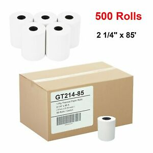 500 Rolls 2 1 4 X 85 Pos Receipt Thermal Paper Credit Card Paper Cash Register