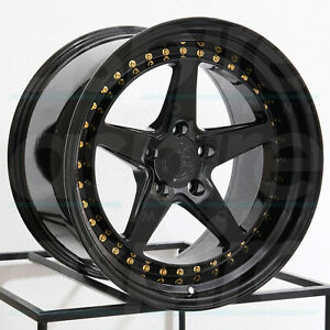 Aodhan Ds05 Ds5 18x8 5 18x9 5 5x114 3 35 15 Black Wheels 4 18 Inch Staggered R