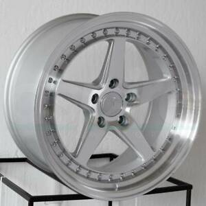 Aodhan Ds05 Ds5 18x9 5 18x10 5 5x114 3 15 15 Silver Wheels 4 18 Inch Staggered