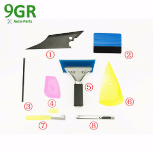8pcs Car Window Tint Wrapping Vinyl Tools Squeegee Scraper Applicator Kits