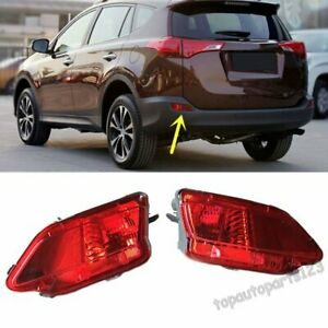 Fit Toyota Rav4 2013 2015 Red Len Rear Bumper Reflector Fog Tail Stop Warn Light