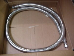 New 6ft Stainless Cryogenic Hose G50cng06 Nitrogen Argon Sae Fittings 6mp54