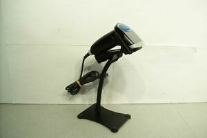 Opticon Opr 3201 Black Handheld Usb Barcode Scanner With Stand Tested