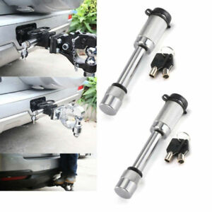 2packs 5 8 Hitch Key Lock Pin For Truck Trailer Tow Receiver W Cover 2 Keys