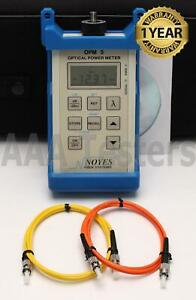 Afl Noyes Opm5 2 Sm Mm Fiber Optic Power Meter Opm 5 2