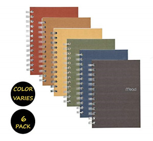 Mead Spiral Notebook College Ruled Paper 80 Sheets 7 X 5 Recycled Colors