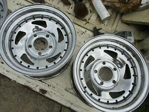 Used 1978 79 Grand Prix 14 X 7 Wheel Set four 5 lug Chrome Saw Blades