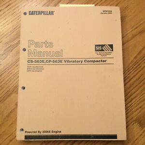 Cat Caterpillar Cs cp 563e Parts Manual Book Catalog Vibratory Compactor Asa Bwe