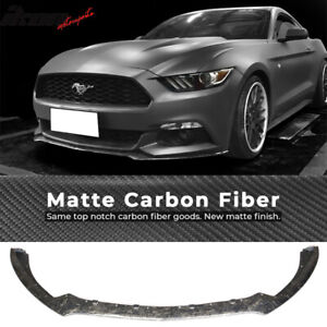 Fits 15 17 Ford Mustang S550 Oe Style Front Bumper Lip Forged Matte Carbon Fiber