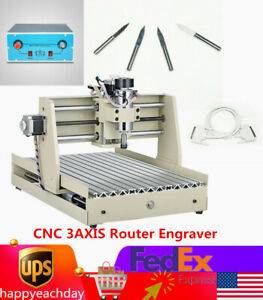 Cnc 3axis Router Engraver Engraving Drilling Milling Machine 3d Cutter 3040 400w