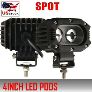 4 Inch 200w Cree Led Work Light Bar Pods Flush Mount Combo Driving Lamps 12v