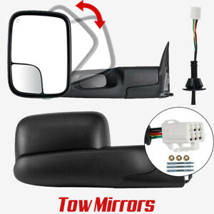 For 98 2001 Dodge Ram 1500 2500 3500 Flipup Power Heated Tow Mirrors Left Right