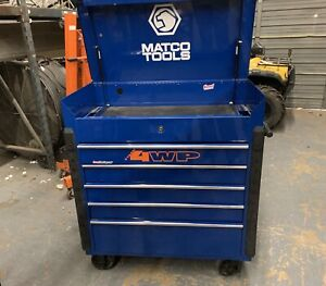 Matco Stainless Top Blue Tool Box Excellent Condition