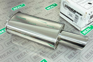 Vibrant Ss Streetpower Oval Muffler W 4 Round Angle Cut Tip 2 5 Inlet 1046