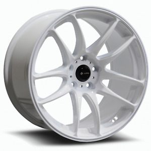 Vors Tr4 18x9 5 5x108 35 White Wheels 4 18 Inch Rims