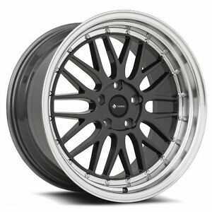 Vors Vr8 19x8 5 19x9 5 5x115 35 35 Hyper Black Wheels 4 19 Inch Staggered Rims