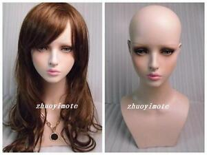High Quality Fiberglass Young Girl Mannequin Head For Wig Jewelry Hat Display