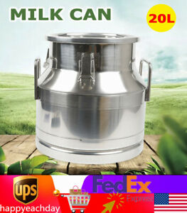 20l 5 25gallon Stainless Steel Milk Can Wine Pail Bucket Tote Jug Silicone Seal
