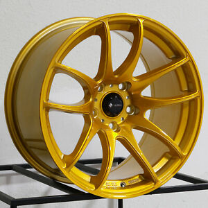 Vors Tr4 17x8 17x9 5x114 3 35 30 Candy Gold Wheels 4 17 Inch Staggered Rims