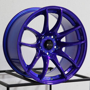 Vors Tr4 18x8 5 18x9 5 5x114 3 35 35 Candy Purple Blue Wheels 4 18 Inch Stagge