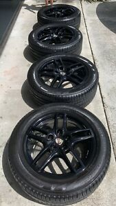 19 Inch Black Oem Porsche Cayenne Wheels With Tires