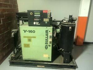 Sullair V160 75 Hp Rotary Screw Air Compressor Variable Speed Drive Vsd