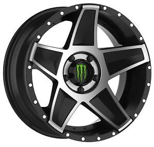 Monster Energy Limited Edition 648mb Black Wheels With Machined Accent A197992