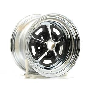 Wheel Vintiques 52 Olds Ss1 Chrome W Black Slot Wheel 15x8 Qty 4 52583405 4