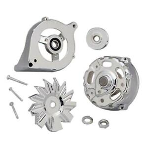 Summit Racing 810070 Alternator Case Chrome Steel Ford 1g Kit