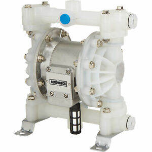 Roughneck Air operated Double Diaphragm Pump 1 2in Ports 12 Gpm Polypropylene