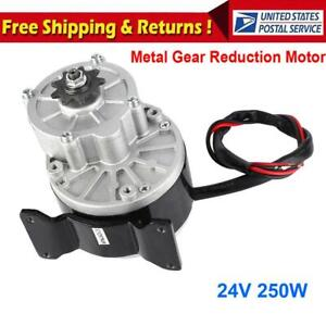 Bike Speed Reduction Metal Gear Motor Electric 12v 3000rpm Powerful Torque 250w