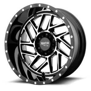 20 Inch Black Wheels Rim Lifted Chevy 2500 3500 Dodge Ram Ford Truck 8 Lug 20x10