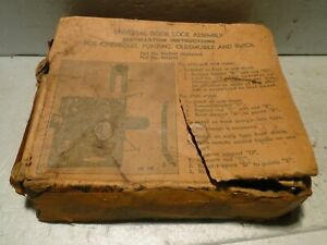1933 1934 1935 Chevy Buick Olds Pontiac Right Door Lock Latch Assembly Nos Oem