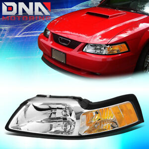 For 1999 2004 Ford Mustang Factory Style Headlight Lamp Assembly Left Lh Chrome
