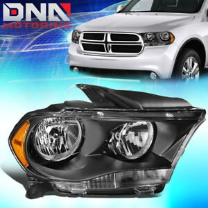 For 2011 2013 Dodge Durango Factory Style Headlight Lamp Assembly Right Black