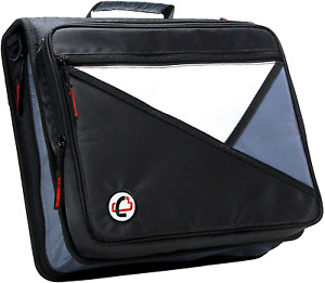 Case it Universal 2 inch 3 ring Zipper Binder Holds 13 Inch Laptop Black