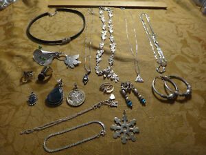 Antique Store Sell Off 100 Gram Sterling Silver Jewelry Lots Not Scrap 4