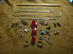 Antique Store Sell Off 100 Gram Sterling Silver Jewelry Lots Not Scrap 9