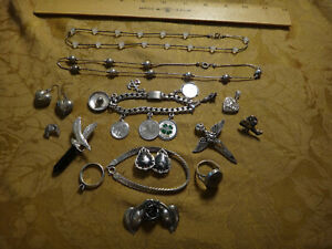 Antique Store Sell Off 100 Gram Sterling Silver Jewelry Lots Not Scrap 13