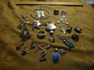 Antique Store Sell Off 100 Gram Sterling Silver Jewelry Lots Not Scrap 23