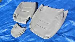 1998 Volvo S70 Lite Beige Drivers Left Side Leather Seat Cover Set Of 3
