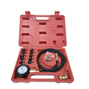 New 2019 Engine Oil Pressure Test Kit Tester Low Oil Warning Devices Gauge Box