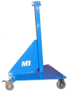 Mittler Bros Bead Roller Stand With Locking Casters Steel Blue Powdercoated Ea