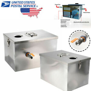Commercial Kitchen Tainless Steel Grease Trap Interceptor Filter 5gpm 8lb