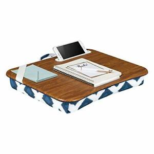 Lapgear Designer Lap Desk With Phone Holder Navy Ikat Fits Up To 15 6 Inch