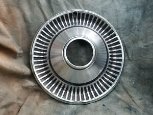 1 Oem 60 80 s Jeep 15 Stainless Steel All Metal Hubcap 4x4 Open Hole
